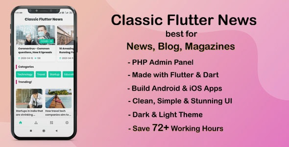 Classic-Flutter-News-App-best-for-News--Blog-and-Magazines