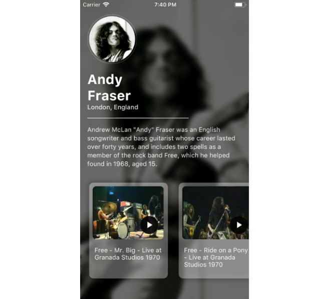 A sample Flutter app for creating an artist details page with animations