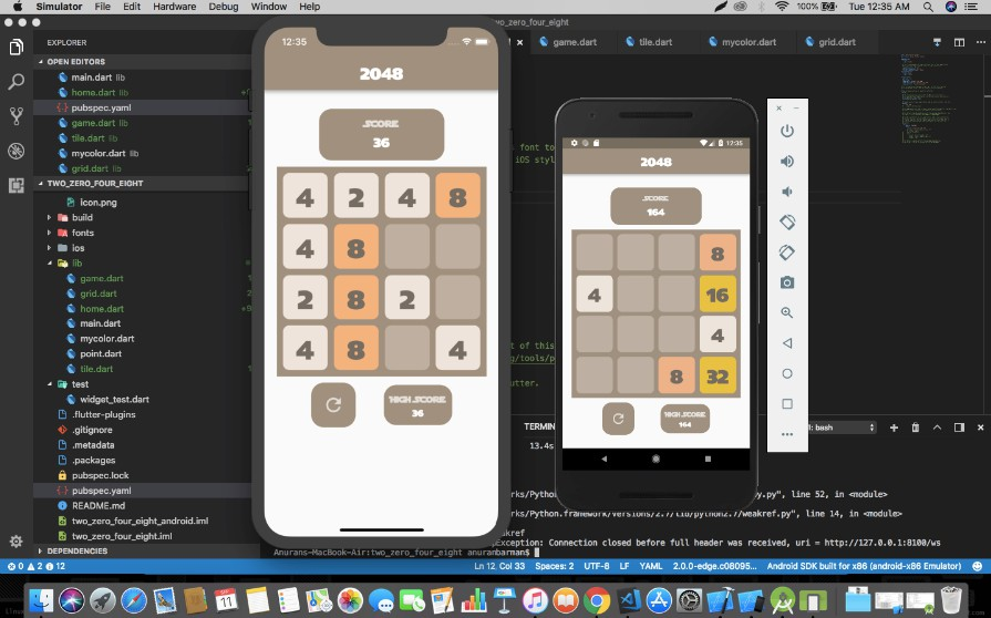 Famous 2048 Game in Flutter