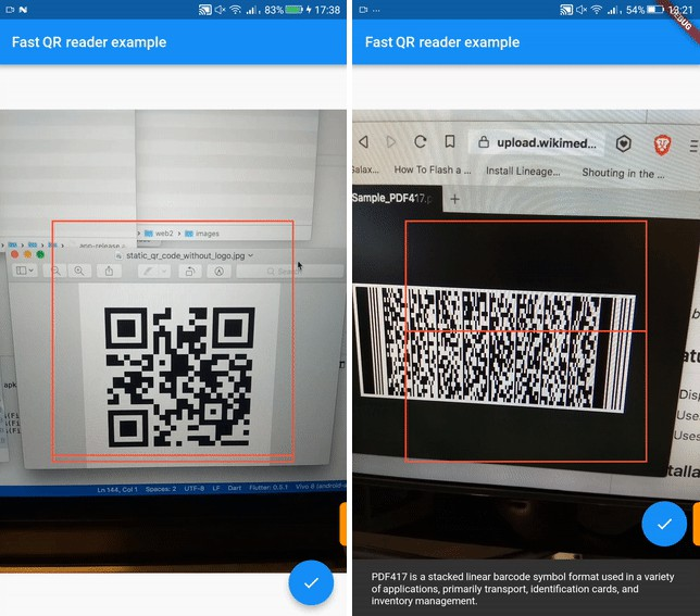 A Fast QR Reader widget for Flutter For both Android and iOS