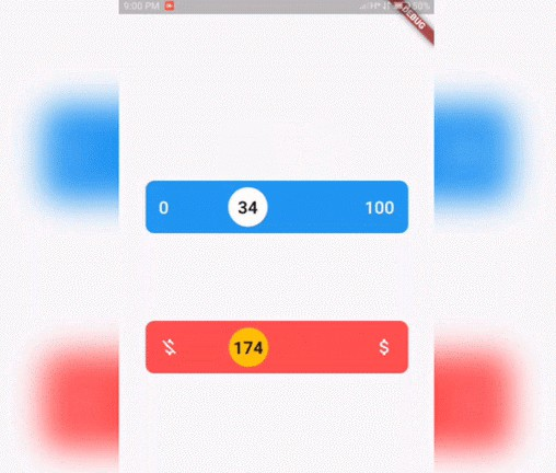 A fluid design slider that works just like the Slider material widget