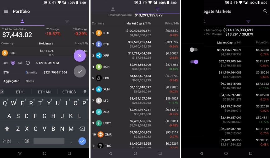 Modern Crypto Portfolio & Market Explorer with Flutter