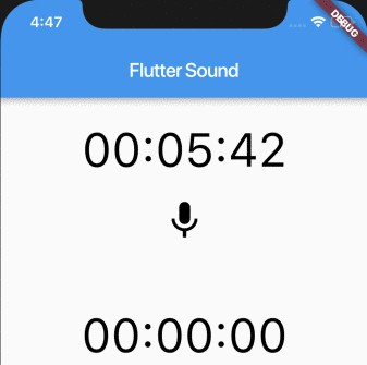 Flutter audio recorder and player at one hand