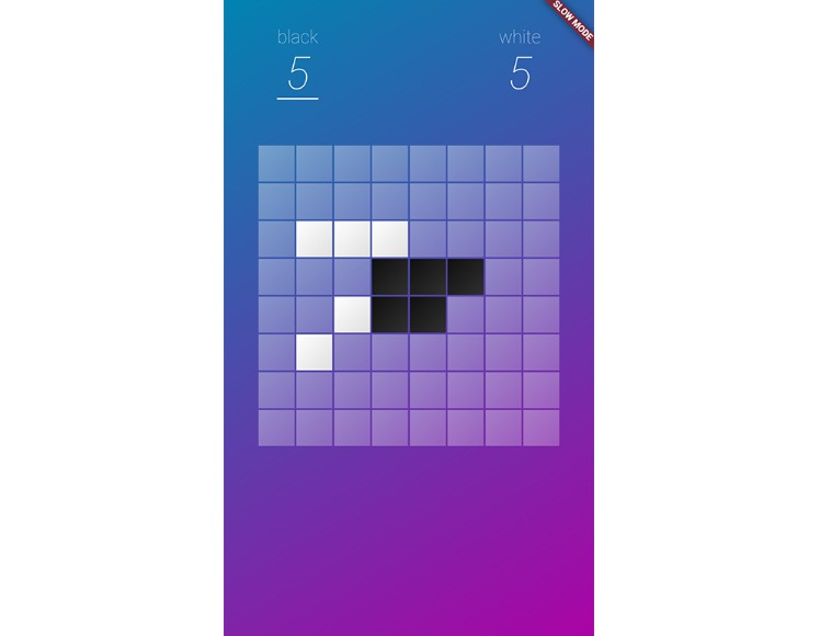 A single-player reversi clone built with Flutter