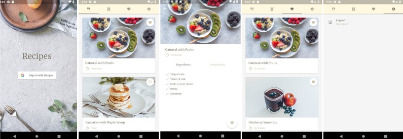 Simple Recipes App made in Flutter