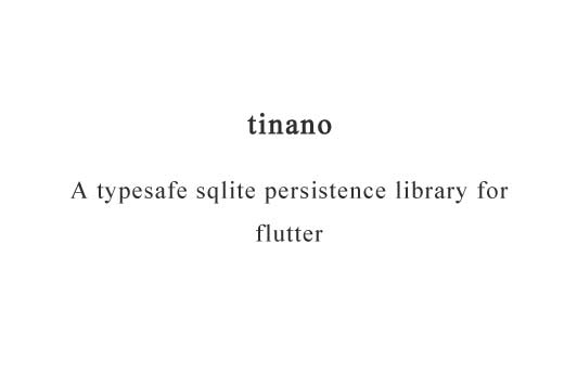 A typesafe sqlite persistence library for flutter