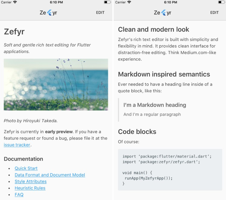 Soft and gentle rich text editing for Flutter applications