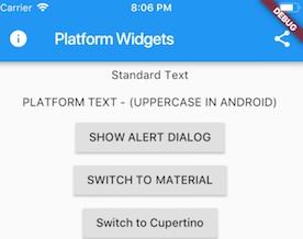 Flutter Platform Widgets