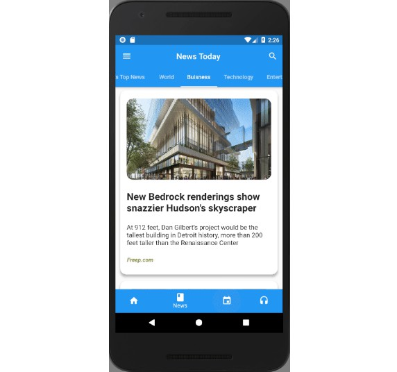 Flutter News, Events and Podcast App