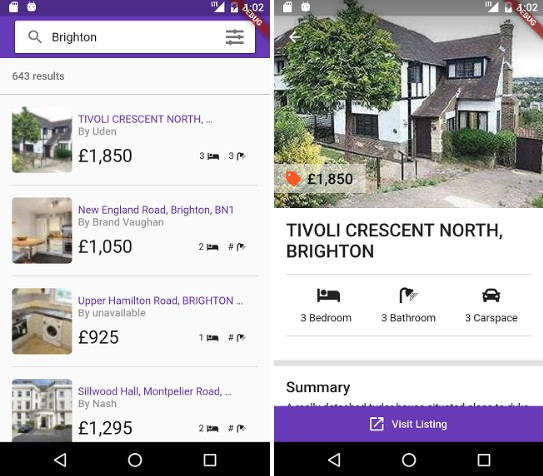 A property search app created using flutter