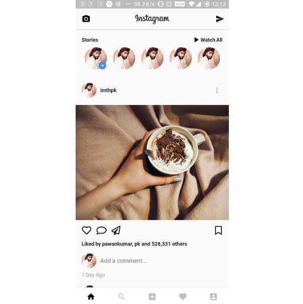 Instagram Ui Clone made using Flutter