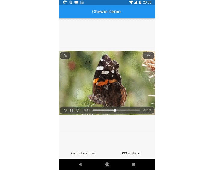 A friendly Material UI video player for Flutter