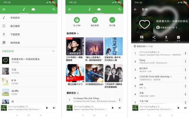 A flutter music player app