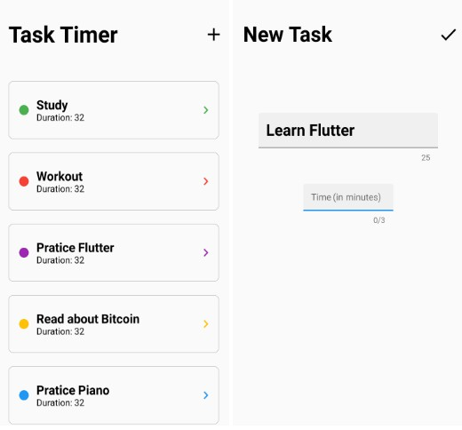 A Timer app made with Flutter