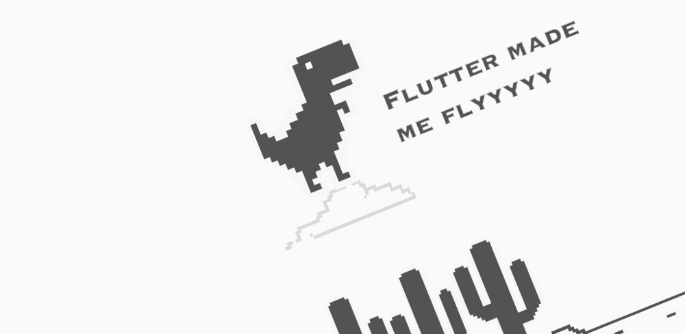 Flutter port of the famous Trex game