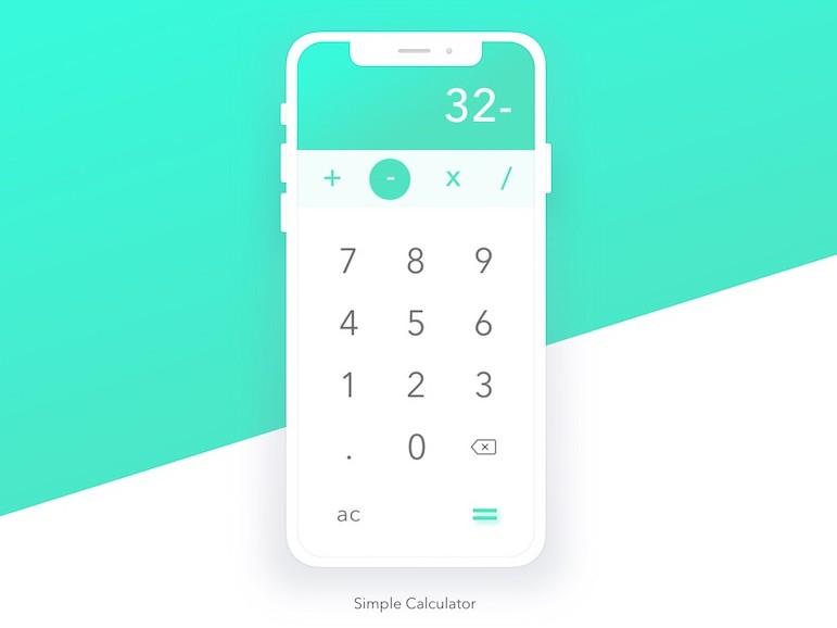 A simple and elegant Calculator app developer in Flutter