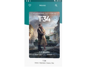 Movies application using moviedb rest api and flutter block architecture