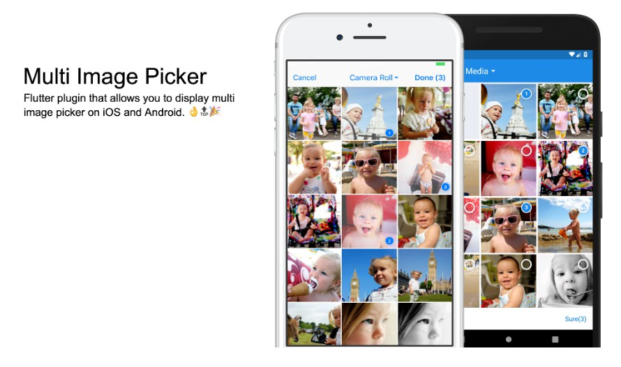 Flutter plugin that allows you to display multi image picker