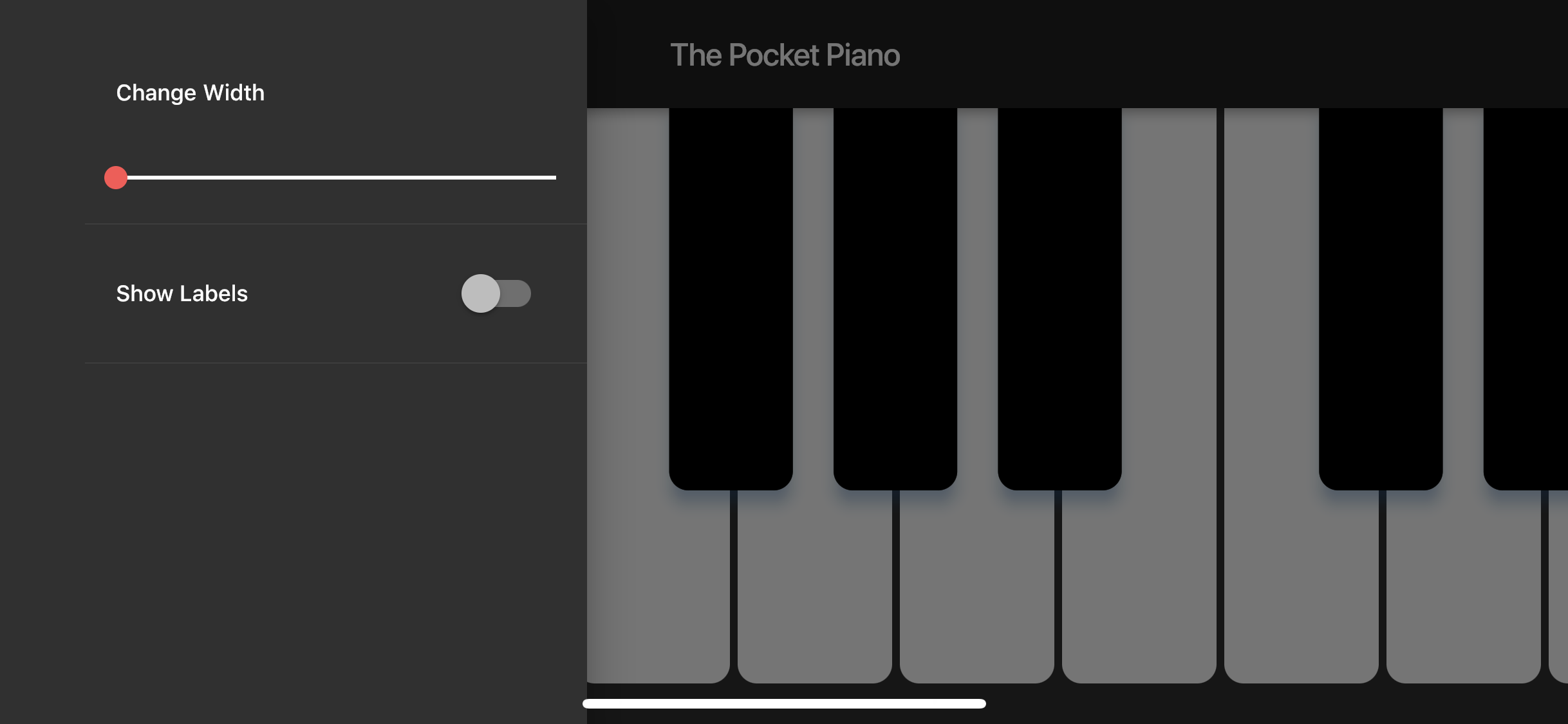 A Crossplatform Piano made with Flutter