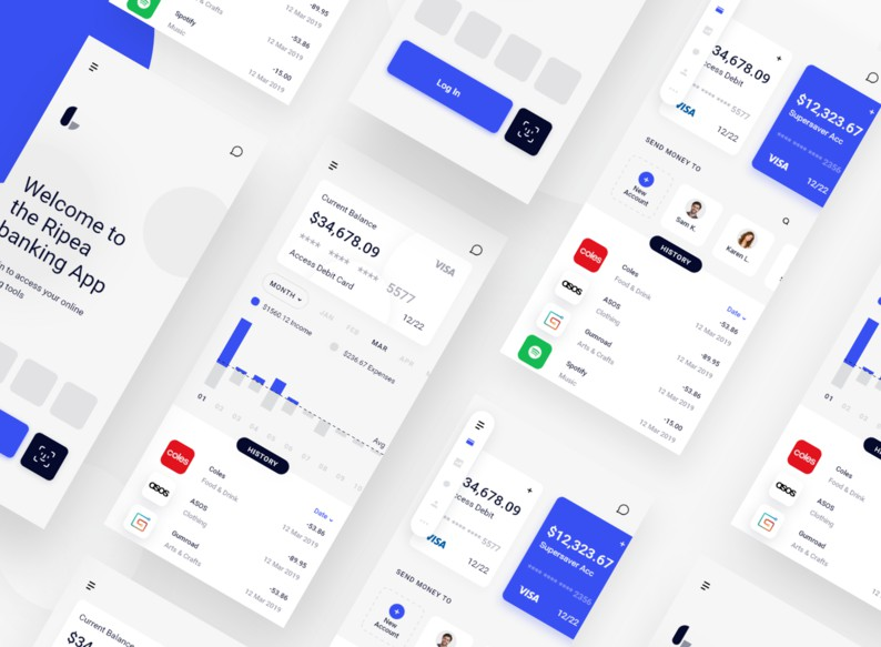 A Flutter ui kit made with designs from dribbble