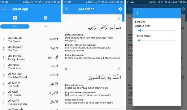 An Al-Quran app written with Flutter
