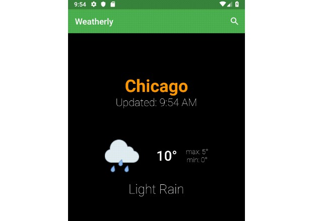 A weather app built in flutter using bloc pattern