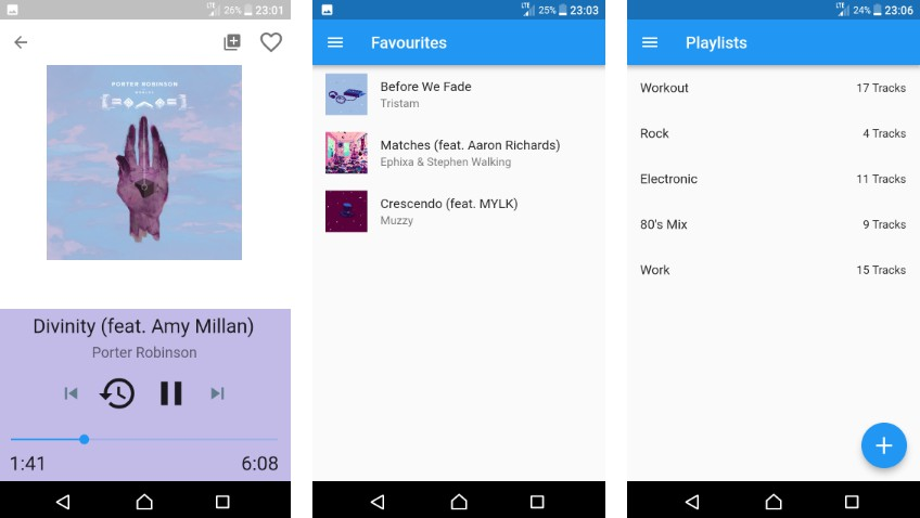 Minimalistic local music player built with flutter for android