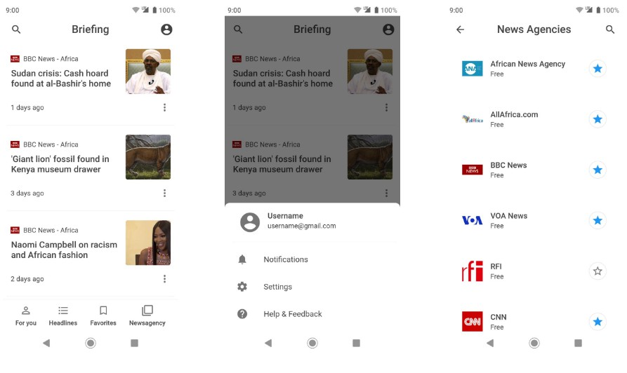 An attempt to clone part of Google News app design using Flutter