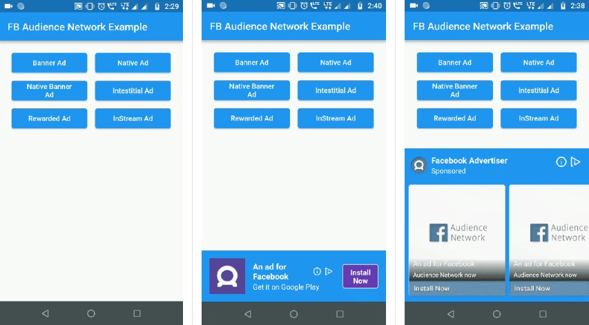 Facebook Audience Network plugin for Flutter applications