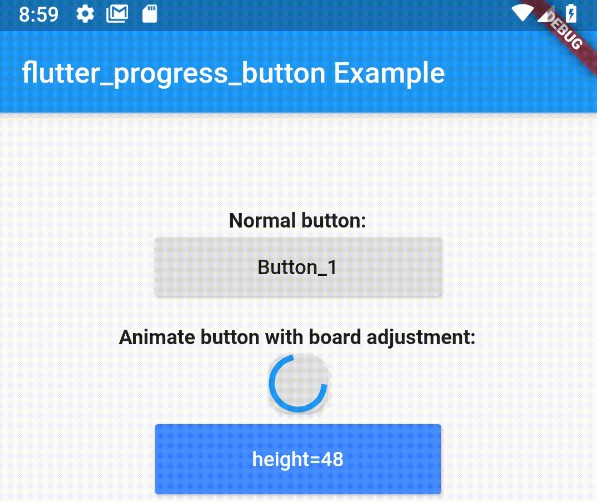 An easy to use and customizable Material Flutter Button