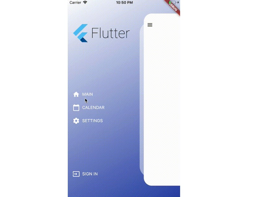 Flutter drawer dynamic ready side menu