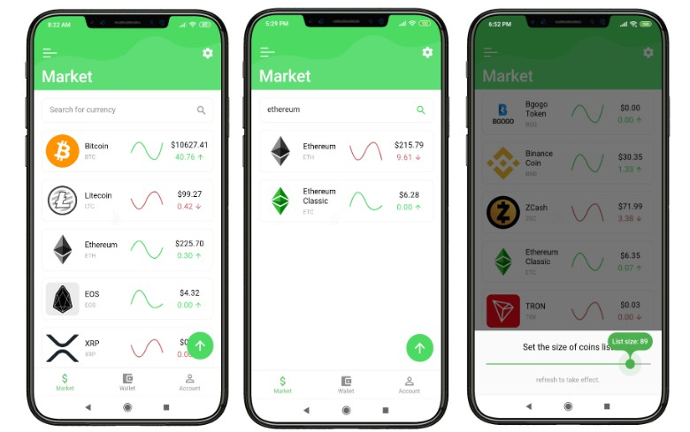 A Cryptocurrency app made with Flutter using Provider