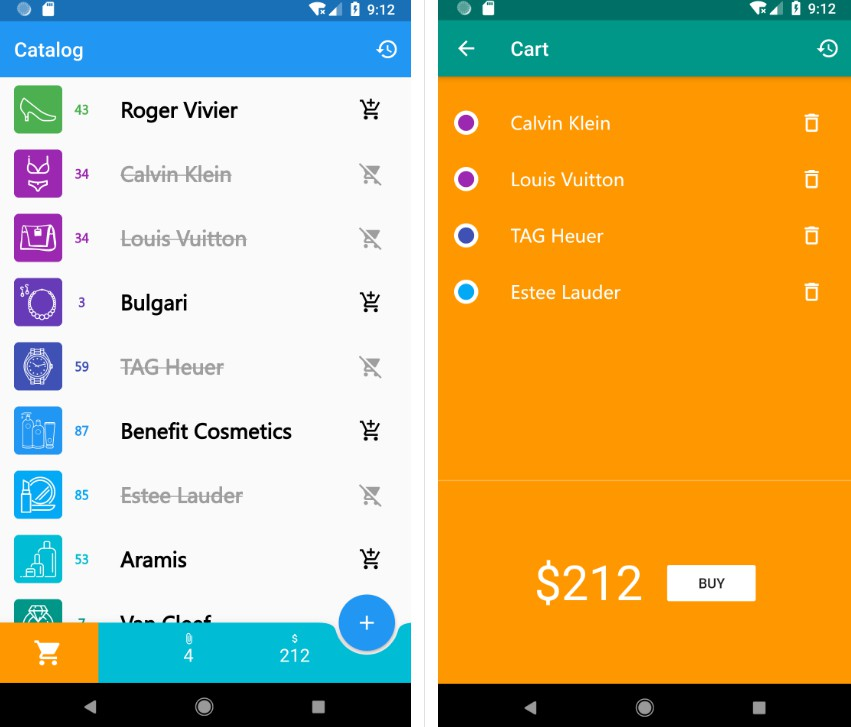 A shopper Flutter app that use BloC pattern and CRUD