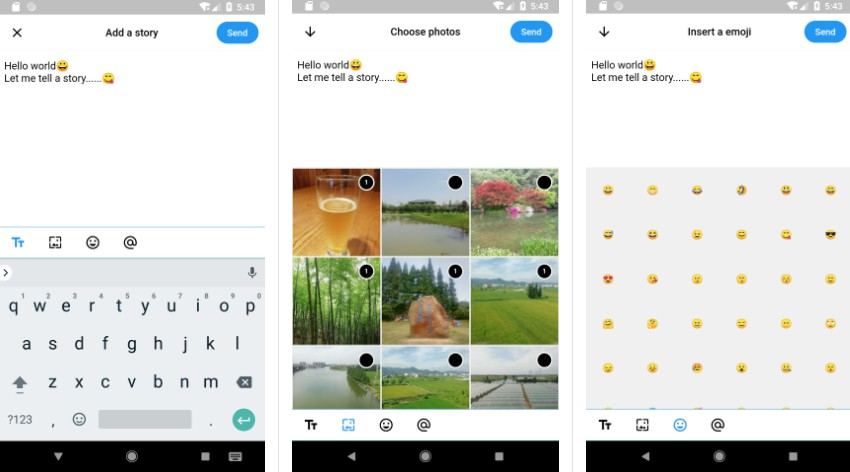 A social messging App UX with Flutter