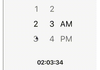 Time Picker widget with spinner instead of a material time picker