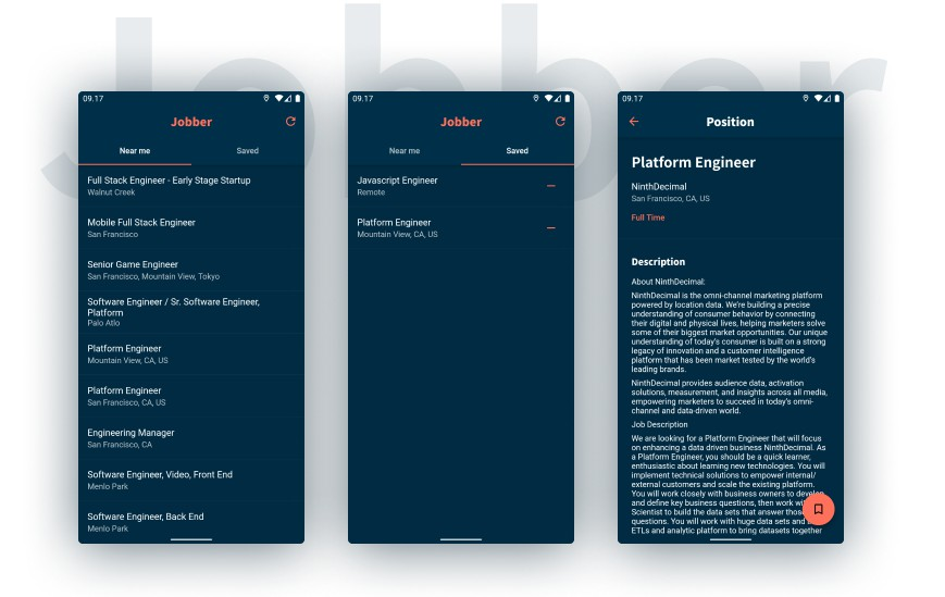 A Flutter app for finding jobs from jobs.github.com