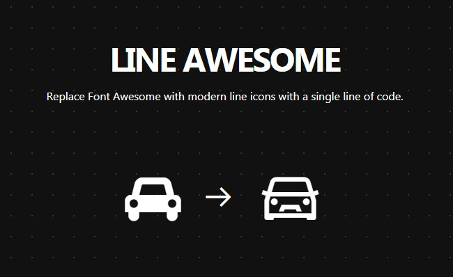 Line Awesome Icon pack available as Flutter Icons