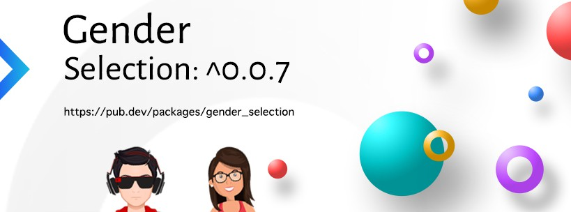 An aweome gender selection widget with cool gradients and animation