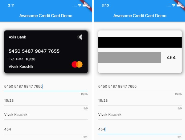 A Flutter package to easily create a Credit Card in you application