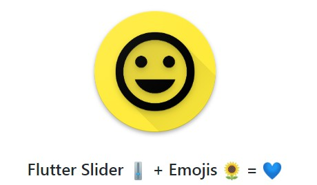 Flutter Example showcasing the use of Emojis in Slider Widget