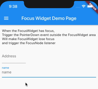 A focusable and blurable TextField widget