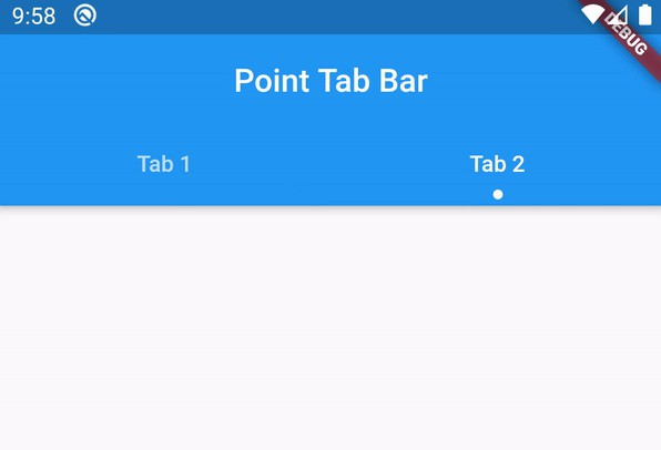 A Flutter tab bar widget with point indicator