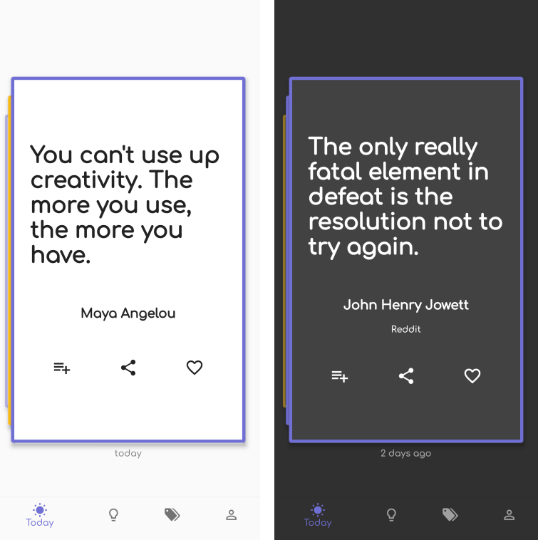 Quotes app for mobile & web with flutter