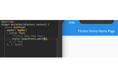 A Flutter package for accessing the Google Fonts API