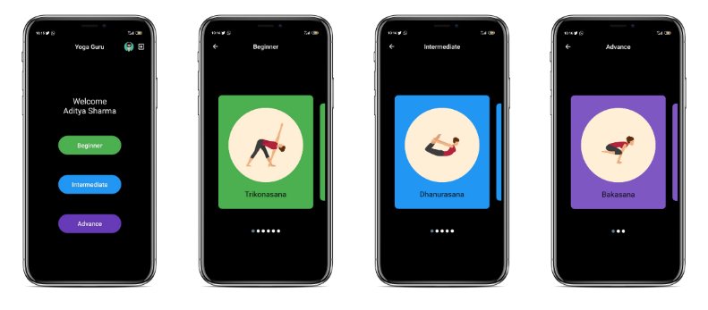 A personalized yoga trainer app based on Flutter and TensorFlow Lite