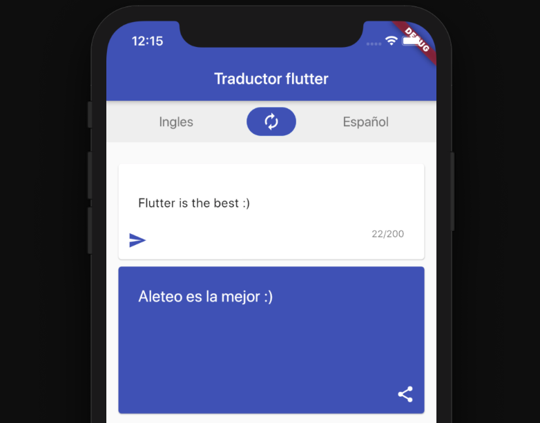 A translator app with flutter