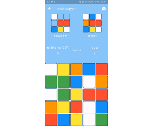 A matching colors Flutter game