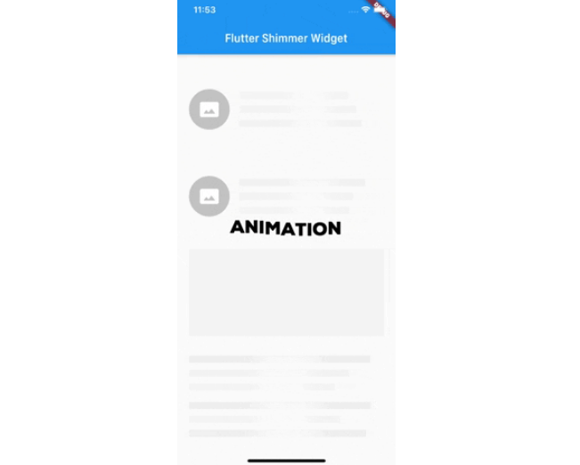 A simple shimmer widget with flutter