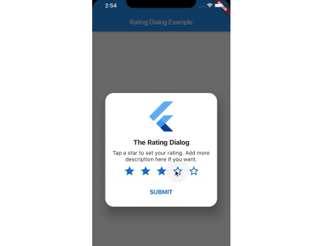 A beautiful and customizable Star Rating Dialog package for Flutter