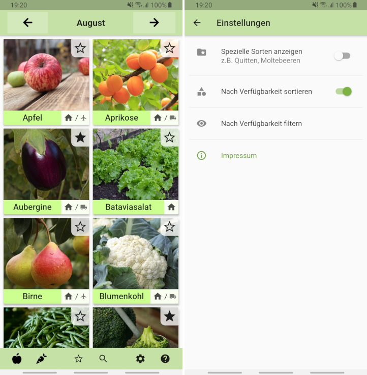 A seasonal foods calendar app written in Dart using Flutter